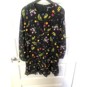 NWT Zara Floral mini dress